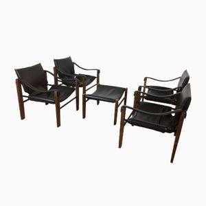 Safari Chairs and Stool from Arkana, 1960s