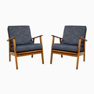 Dänische Sessel aus Eiche & Teak, 1960er, 2er Set