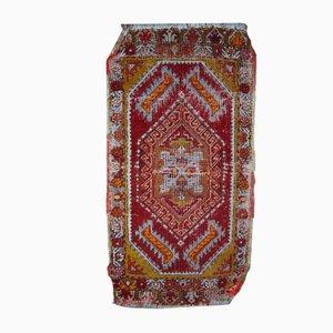 Antique Handmade Turkish Yastik Rug