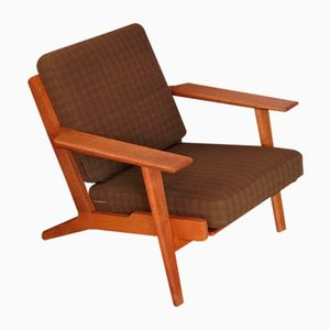 Mid-Century GE290 Oak Lounge Chair by Hans Wegner for Getama