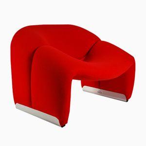 Blauer Vintage F598 Sessel von Pierre Paulin für Artifort
