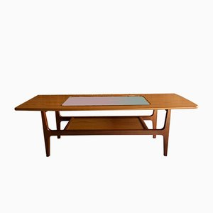 Mid-Century Aeroplane Teak Coffee Table from Schreiber, 1970s