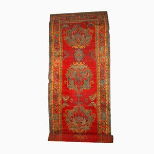 Antique Handmade Turkish Oushak Runner, 1890s