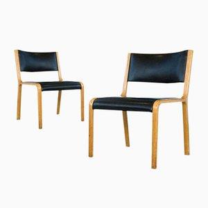 Deutsche Bugholz Beistellstühle von Wilkhahn, 1960er, 2er Set