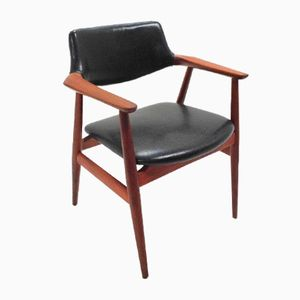 Dänischer Teak Schreibtischstuhl von Svend Åge Eriksen für Glostrup, 1960er