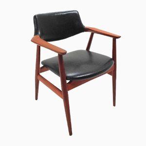 Danish Teak Desk Chair by Svend Åge Eriksen for Glostrup, 1960s