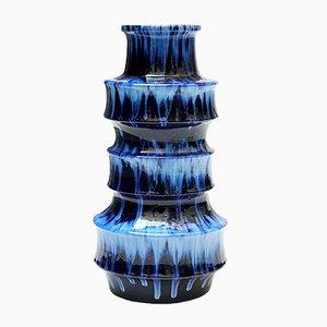 Vase Dripping Bleu par Scheurich, 1960s
