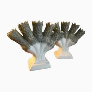 Belgische Keramik Blumenvasen, 1960er, 2er Set