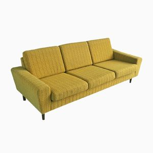 Danish Mid-Century 3-Seater Sofa in Yellow