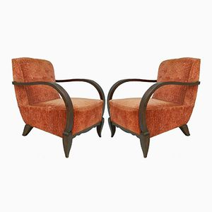 Art Deco Klubsessel, 1930er, 2er Set