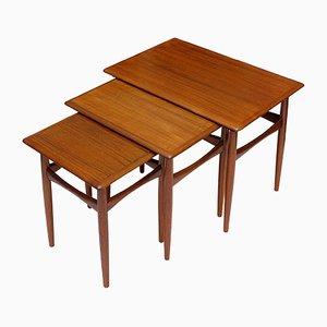 Teak & Teak Veneer Nesting Tables by Kai Kristiansen