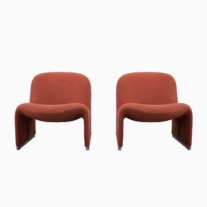 Vintage Alky Sessel von Giancarlo Piretti für Castelli, 2er Set