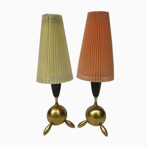 Lampade da tavolo piccole Mid-Century, set di 2
