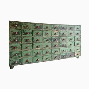 Cassettiera vintage industriale da merceria