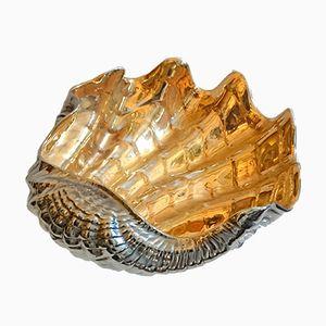 Große Italienische Muschel Schale aus Keramik von San Marco, 1970er