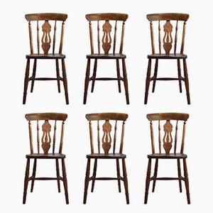 Antike Englische Windsor Stühle, 6er Set