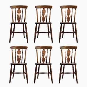 Antique English Windsor Chairs, Set of 6