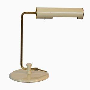 Lampada da tavolo in metallo ed ottone, anni '70