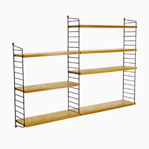 Vintage Elm Veenered Shelving Unit by Katja & Nisse Strinning for String