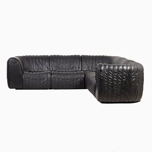 DS-22 Sofa in Black Leather from de Sede, 1980s