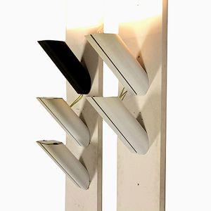 Lampade da parete Megaron di Gianfranco Frattini per Artemide, anni '70, set di 5
