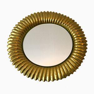 Italienischer Spiegel mit Rahmen aus Messing, 1960er