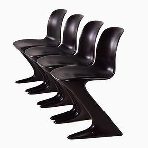 Kangaroo Stühle von Ernst Moeckl für Horn, 1968, 4er Set