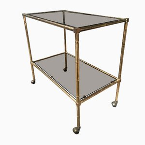 Italian Brass and Glass Trolley, 1970s