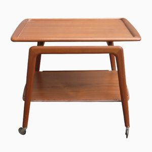 Mid-Century Danish Teak Tea Trolley by Arne Hovmand-Olsen for Mogens Kold