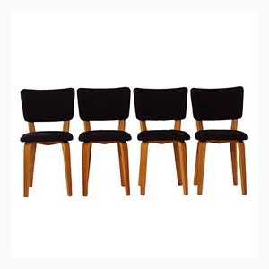 Vintage Birch Dining Chairs by Cor Alons for Den Boer Gouda, Set of 4