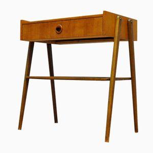 Petite Table d'Appoint en Teck avec Tiroir, 1960s