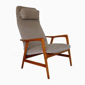 Kontur Highback Armlehnstuhl von Alf Svensson für Ljungs Industrier, 1950er