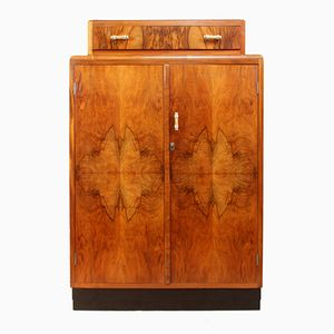 Art Deco Walnut Gentleman's Wardrobe, 1930s