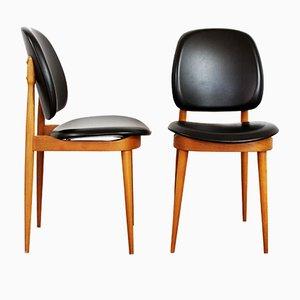 Stühle von Pierre Guariche, 1950er, 2er Set