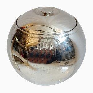 Secchiello per ghiaccio sferico placcato in cromo, anni '60