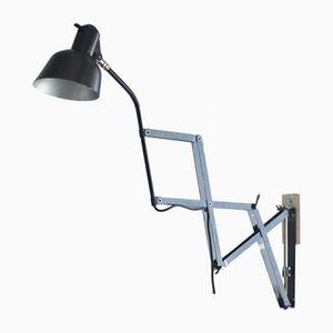Deutsche Vintage Scherenwandlampe von SIS