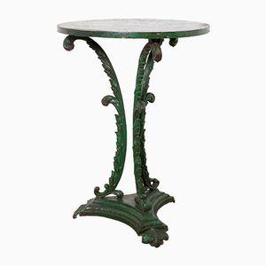 Grüner Gusseisen Tisch, 1860er