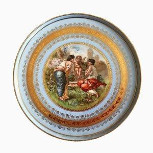 Piatto grande di Royal Vienna Porcelain, fine XIX secolo