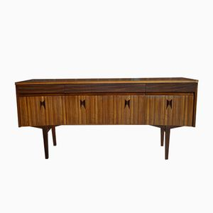 Curved Zebrano and Rosewood Cabinet from Elliots Of Newbury, 1965