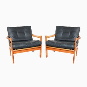 Easy Chairs by Illum Wikkelsø for Niels Eilersen, 1966, Set of 2