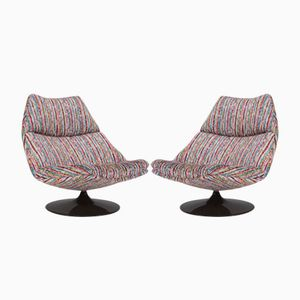 F510 Swivel Lounge Chairs by Geoffrey Harcourt for Artifort, 1960s, Set of 2