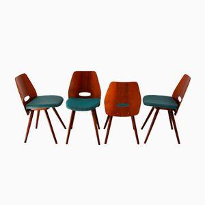 Esszimmerstühle von František Jirák für Tatra, 1960er, 4er Set
