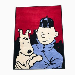 Vintage Tintin Carpet by Hergé for Axis, 1980s