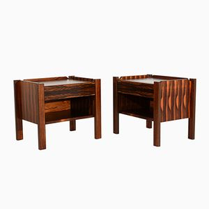 Mid-Century Scandinavian Rosewood Nightstands, Set of 2