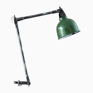 Vintage Green Enamel Workshop Lamp