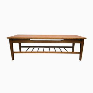 Vintage Long Coffee Table with Shelf