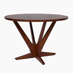 Table Basse Dorée en Teck par Søren Georg Jensen pour Kubus, 1960s