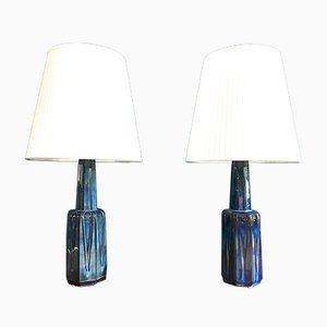 Lampes de Bureau en Céramique par Einar Johansen pour Soholm, Danemark, 1960s, Set de 2