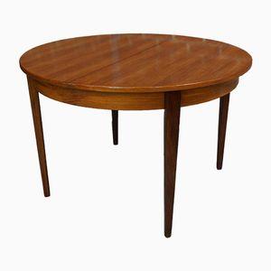 Runder Teak Tisch, 1960er
