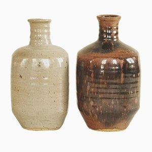 Tokkuri Sake Flaschen von Pierre Digan und Janet Stedman für Digan Grès, 1970er, 2er Set